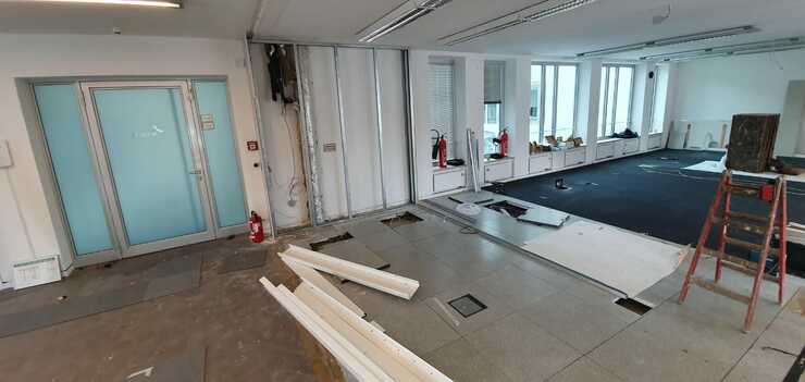 Büroausbau artegic AG, Bonn - Während der Ausführung.